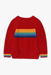 Frugi - CALEB CABLE JUMPER BABY - Strickpullover - tango red - 1