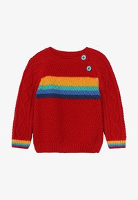 Frugi - CALEB CABLE JUMPER BABY - Strickpullover - tango red - 2