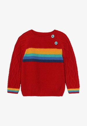 CALEB CABLE JUMPER BABY - Neule - tango red
