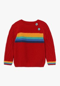 Frugi - CALEB CABLE JUMPER BABY - Strickpullover - tango red - 0