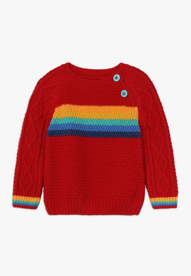 CALEB CABLE JUMPER BABY - Strickpullover - tango red