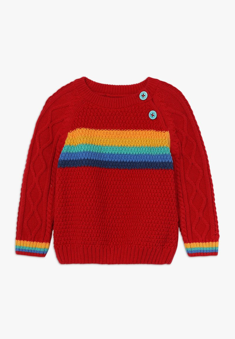 Frugi - CALEB CABLE JUMPER BABY - Strickpullover - tango red