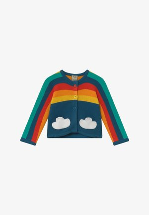 ORGANIC COTTON RAINBOW BABY - Kardigan - steely blue