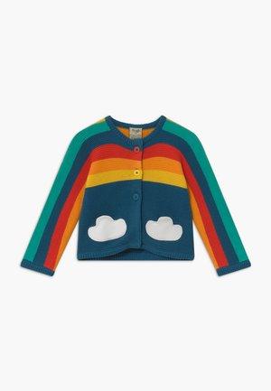 ORGANIC COTTON RAINBOW BABY - Cardigan - steely blue