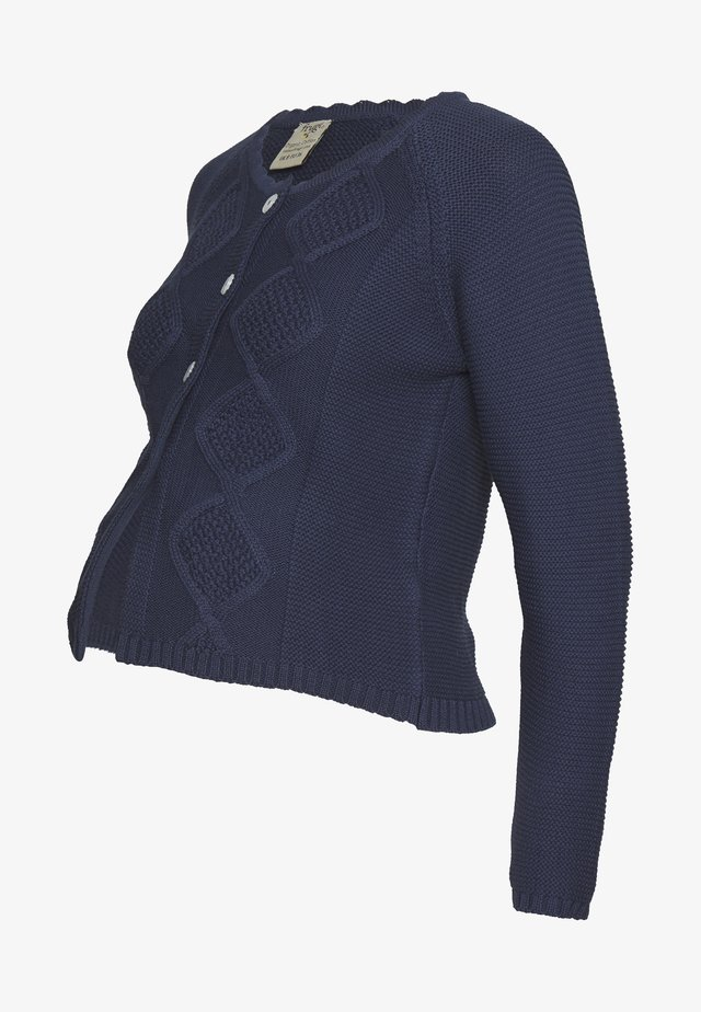 CLOVER CABLE CARDIGAN - Strickjacke - indigo