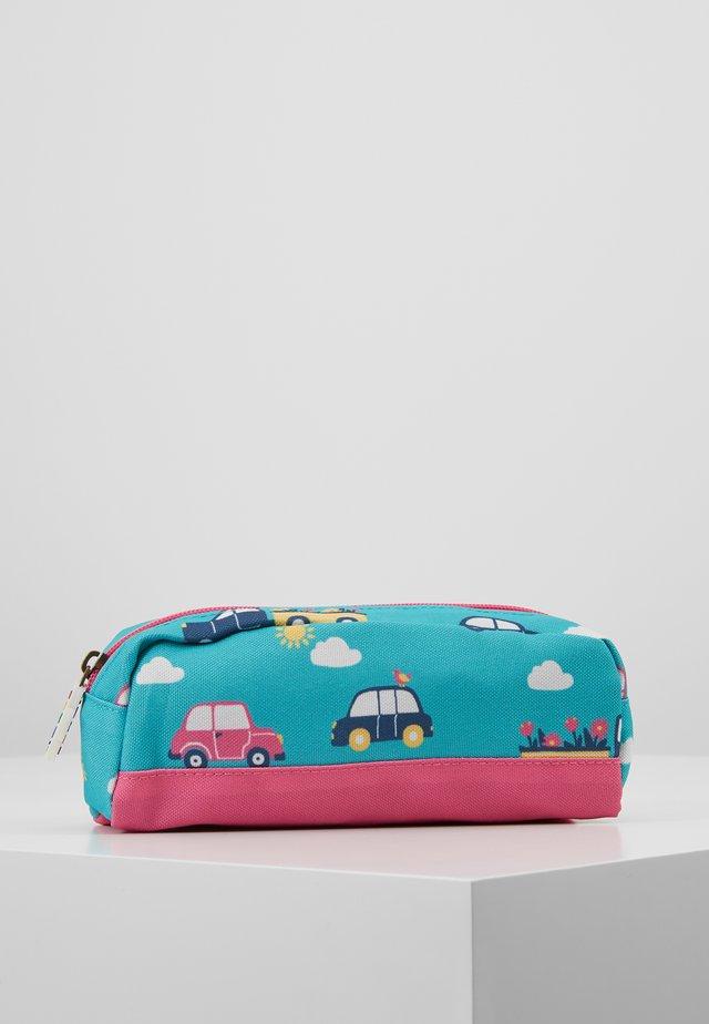RECYCLED FABRIC CRAFTY PENCIL CASE - Pencil case - aqua rainbow roads