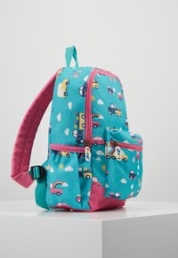 Frugi - RECYCLED FABRIC ADVENTURERS BACKPACK - Batoh - aqua rainbow roads - 4