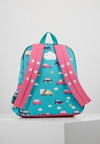 Frugi - RECYCLED FABRIC ADVENTURERS BACKPACK - Batoh - aqua rainbow roads