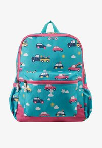 Frugi - RECYCLED FABRIC ADVENTURERS BACKPACK - Batoh - aqua rainbow roads - 1