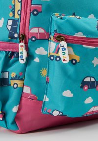 Frugi - RECYCLED FABRIC ADVENTURERS BACKPACK - Batoh - aqua rainbow roads - 2