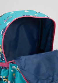 Frugi - RECYCLED FABRIC ADVENTURERS BACKPACK - Batoh - aqua rainbow roads - 5