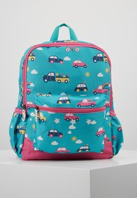 Frugi - RECYCLED FABRIC ADVENTURERS BACKPACK - Batoh - aqua rainbow roads - 0