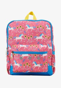 Frugi - ADVENTURERS BACKPACK UNICORN - Reppu - pink/ blue - 1