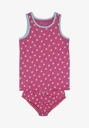 VOYAGER VEST POLLY PRINTED BRIEFS - Sada spodního prádla - pink