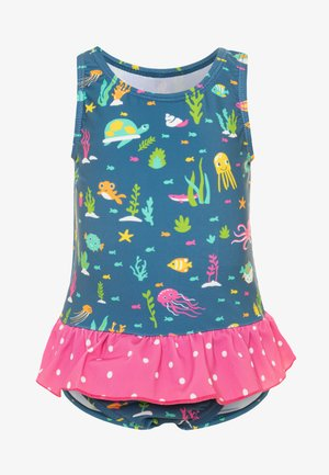 OEKO TEX LITTLE CORAL REEF SWIMSUIT BABY - Swimsuit - blue