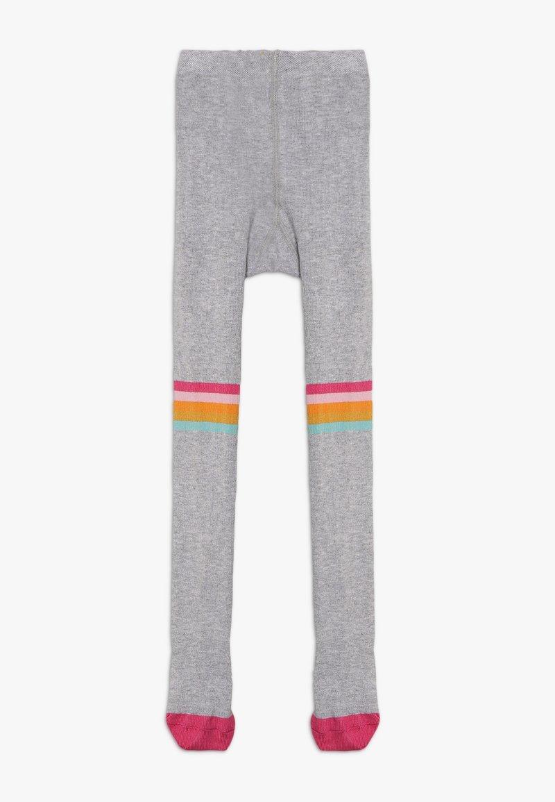 Frugi - ORGANIC COTTON FUN KNEE TIGHTS - Strumpfhose - grey marl/rainbow