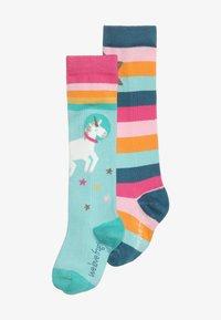 Frugi - ORGANIC COTTON HYGGE HIGH KNEE SOCKS IN RAINBOW UNICORN 2 PACK - Chaussettes hautes - multicolor - 2