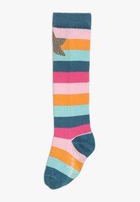 Frugi - ORGANIC COTTON HYGGE HIGH KNEE SOCKS IN RAINBOW UNICORN 2 PACK - Chaussettes hautes - multicolor - 1