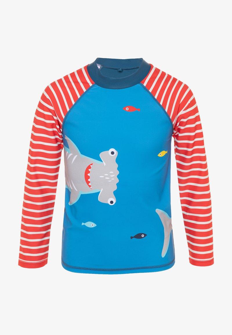 Frugi - OEKO TEX RASH SUN SAFE SHARK - Rash vest - motosu blue