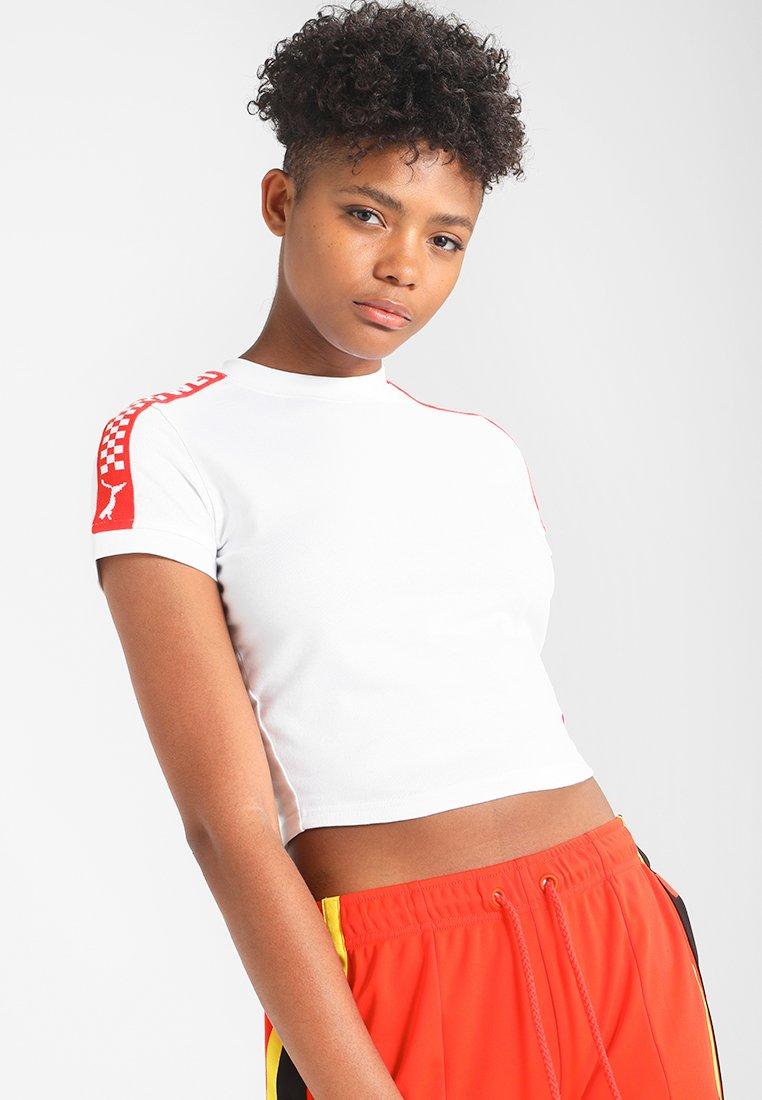 Fenty PUMA by Rihanna - CROPPED TEE - Print T-shirt - bright white