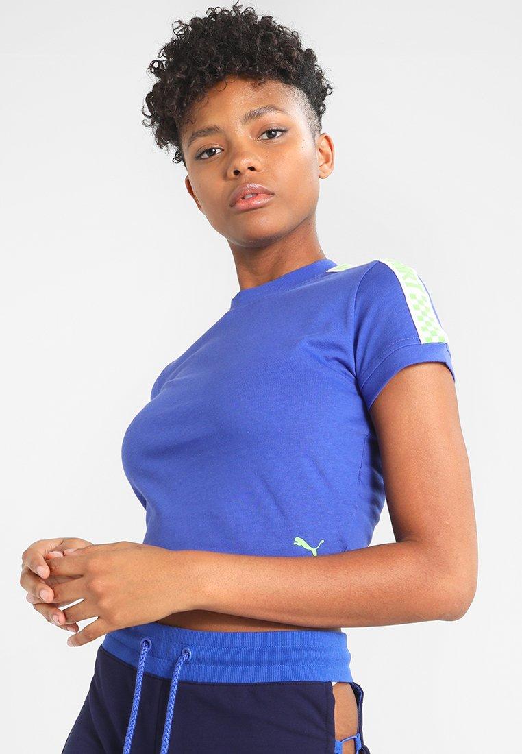 Fenty Cropped By Rihanna TeeT Blue Puma shirt Imprimé Dazzling ZiukOPXT