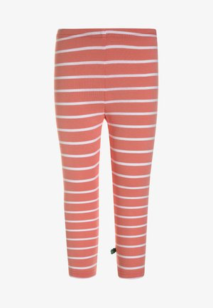 STRIPE  - Leggings - coral