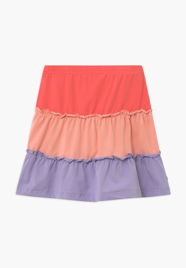 ALFA LAYER - A-line skirt - coral