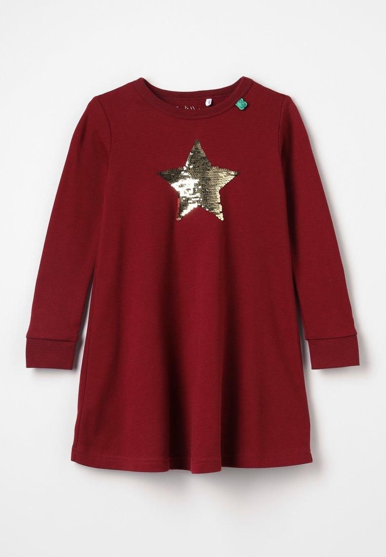 Fred's World by GREEN COTTON - STAR SOLID DRESS - Robe en jersey - bordeaux