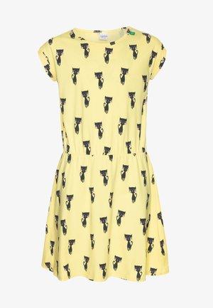 CATS DRESS - Trikoomekko - yellow