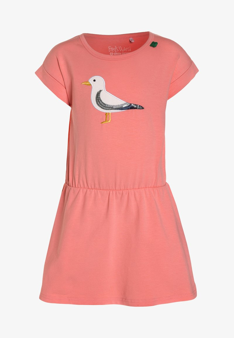Fred's World by GREEN COTTON - WAVE SEAGULL DRESS - Jersey dress - coral