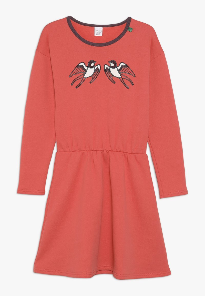 Fred's World by GREEN COTTON - BIRD DRESS - Robe d'été - warm coral