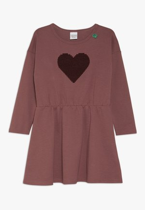 STAR SOLID DRESS - Robe en jersey - dark rose