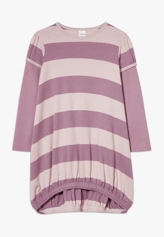 STRIPE DRESS - Jerseyklänning - shadow