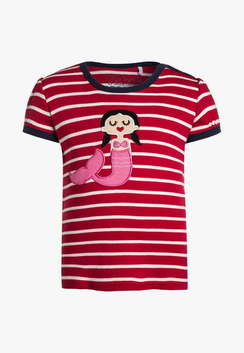 Fred's World by GREEN COTTON - SAILOR STRIPE MERMAID BABY - Print T-shirt - red