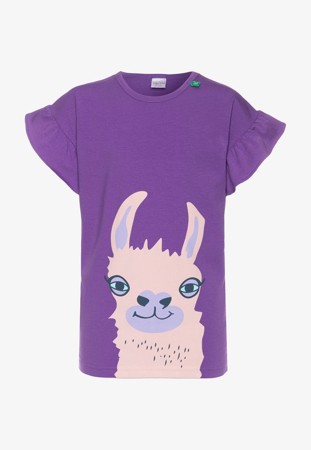 LAMA FRONT GIRL - Printtipaita - purple