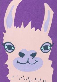 Fred's World by GREEN COTTON - LAMA FRONT GIRL - Triko spotiskem - purple - 2