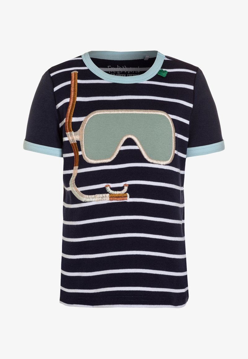 Fred's World by GREEN COTTON - HELLO DIVER - Print T-shirt - navy