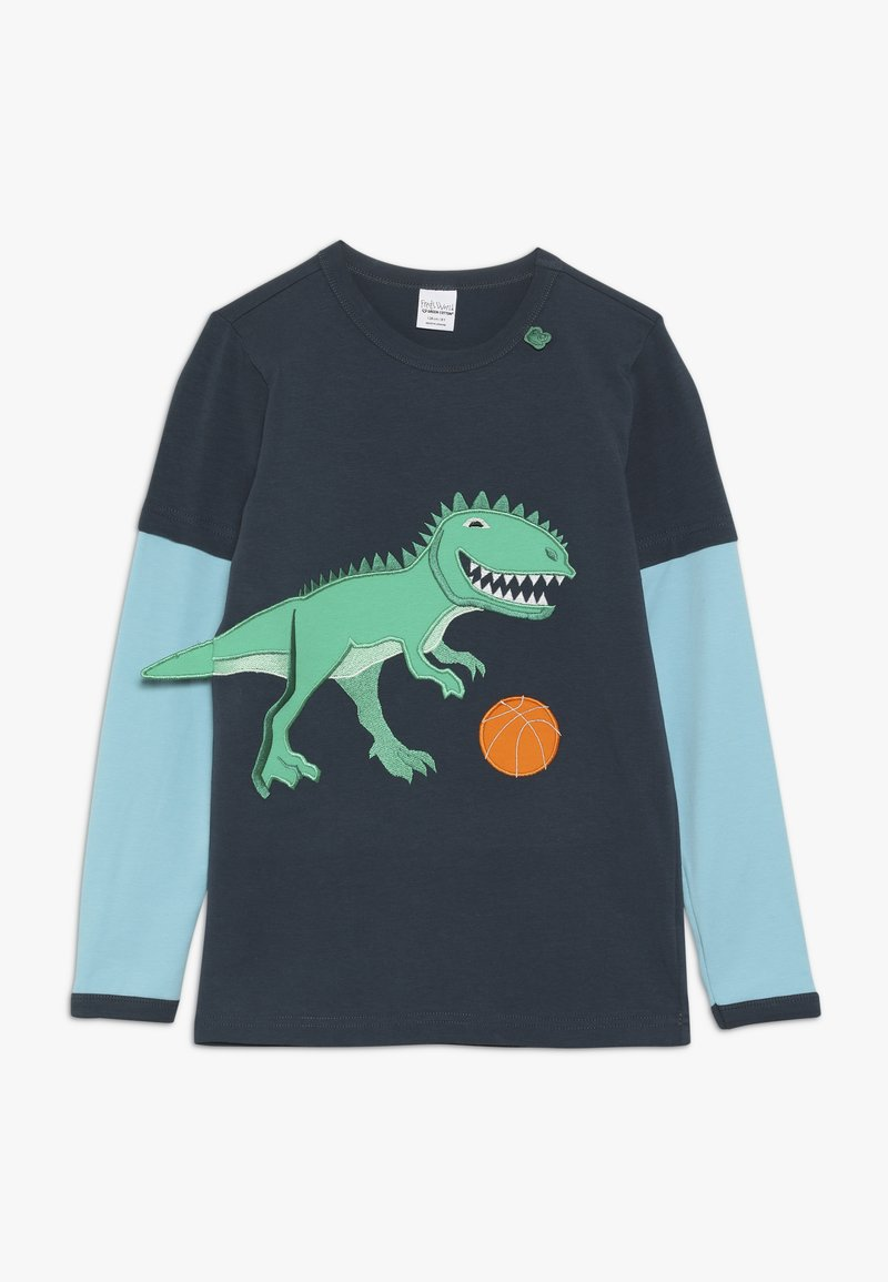 Fred's World by GREEN COTTON - HELLO DINOSAUR  - Maglietta a manica lunga - midnight