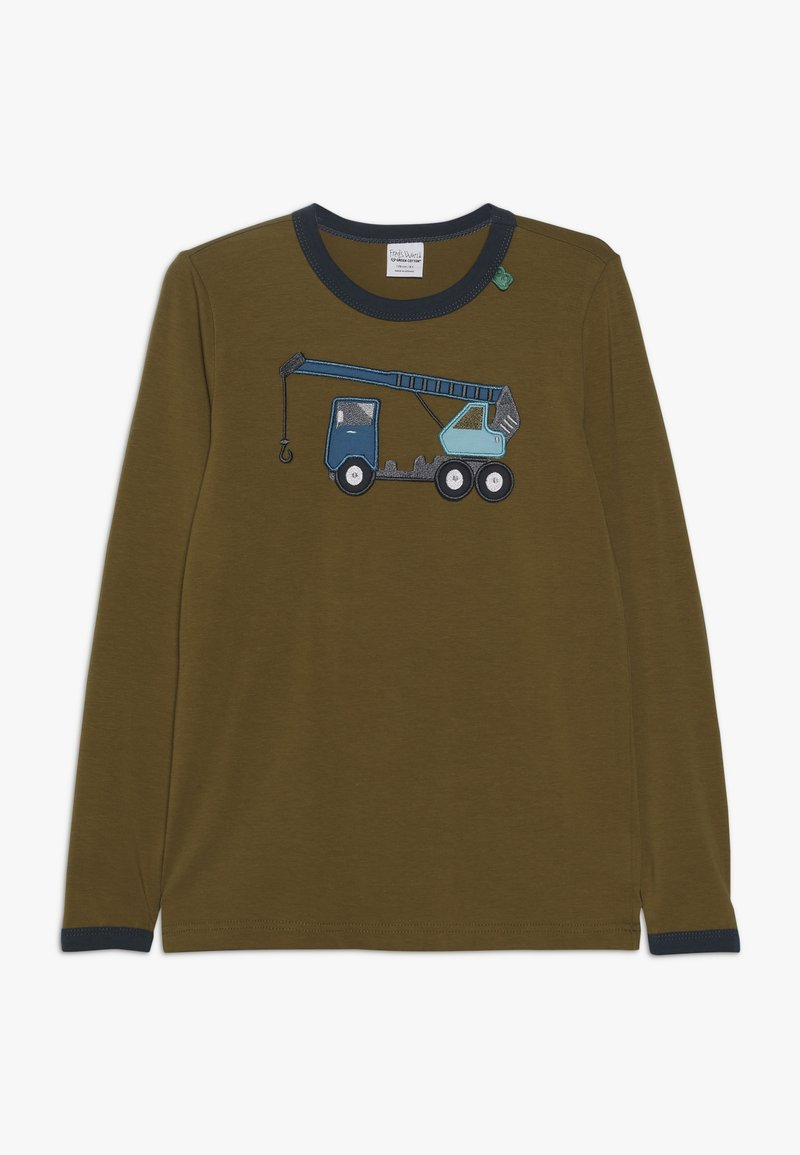 Fred's World by GREEN COTTON - CRANE FRONT  - Long sleeved top - dark olive