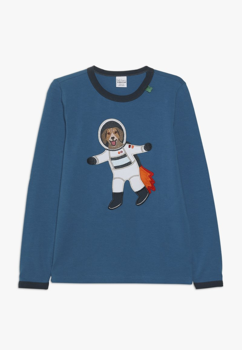 Fred's World by GREEN COTTON - SPACE DOG  - Long sleeved top - deep blue