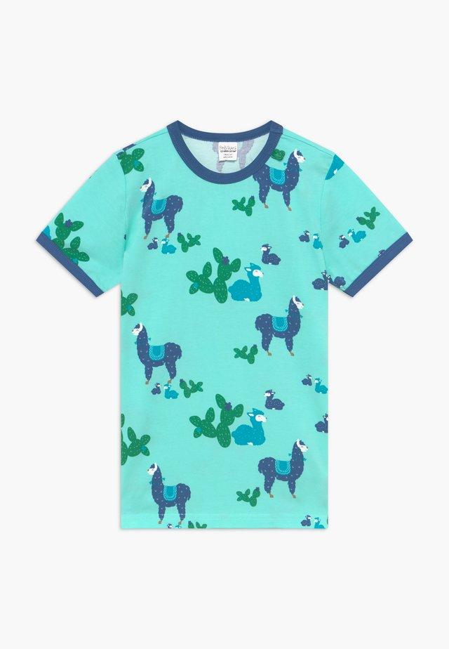LAMA - Print T-shirt - aqua