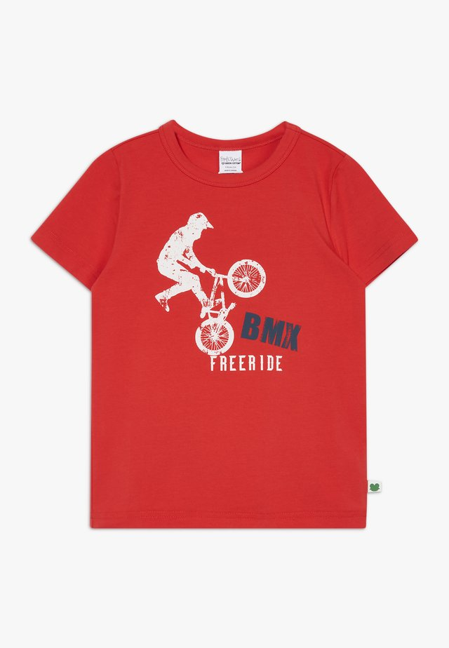 BMX FREE RIDE - Print T-shirt - traffic red