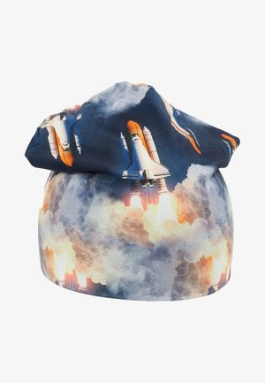 SPACE PHOTO BEANIE - Muts - midnight