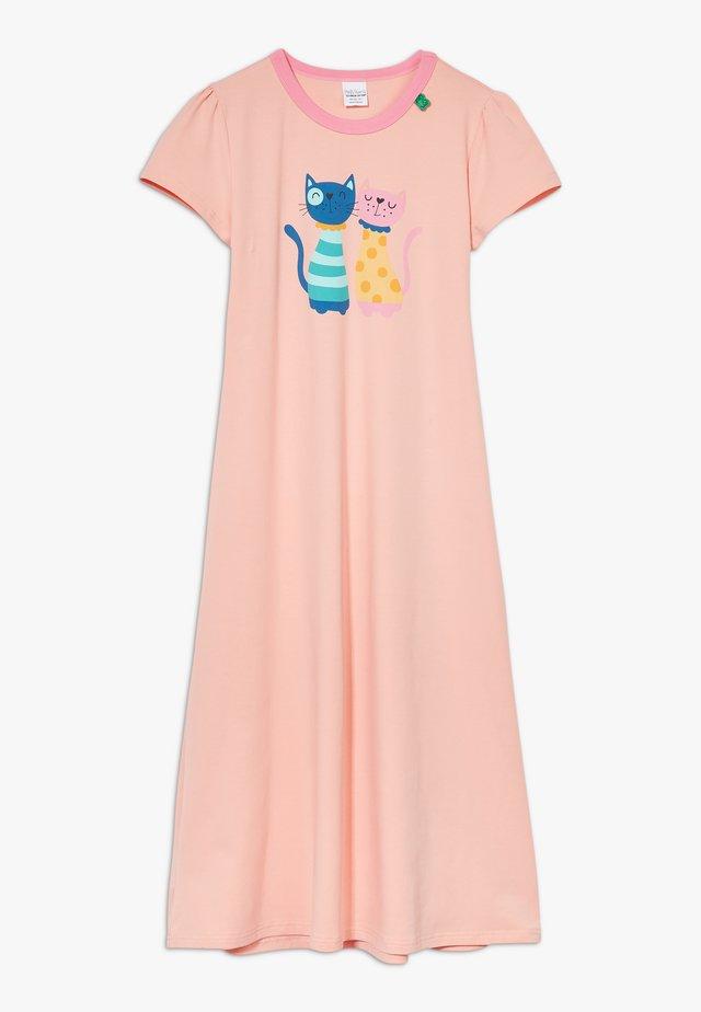 ZGREEN CATS LOUNGEWEAR DRESS EXCLUSIVE - Nattlinne - peach