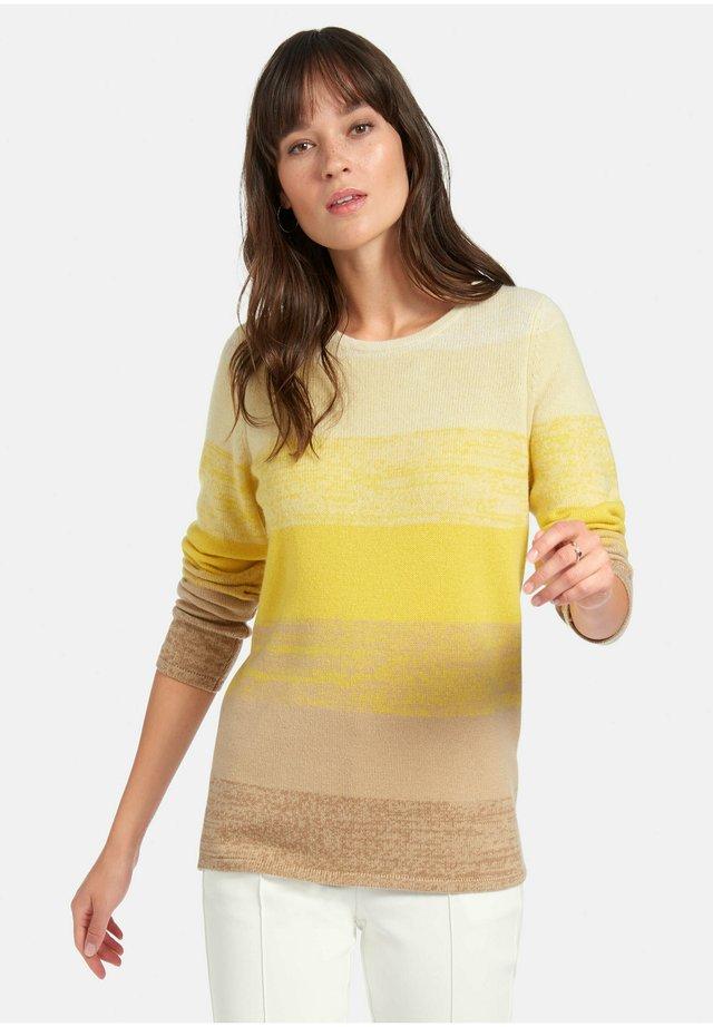Pullover - gelb/multicolor