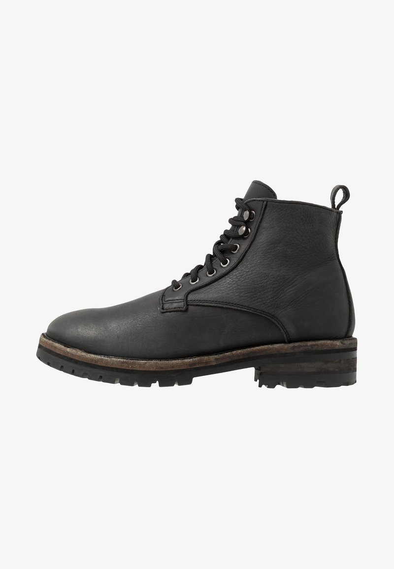 Frank Wright - FRANKEL - Lace-up ankle boots - black washed