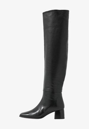 CAMILLE HIGH BOOT - Kozačky nad kolena - black