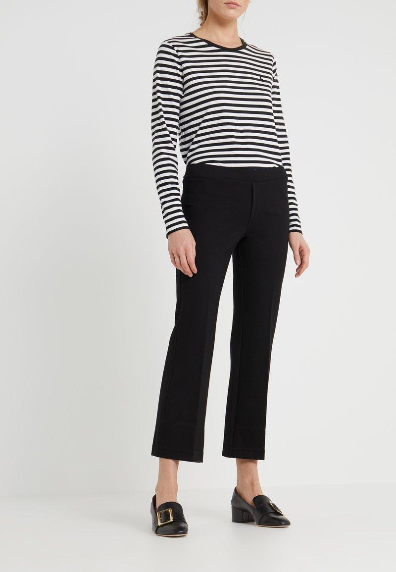 Filippa K - POE CROPPED PANT - Pantalones - black