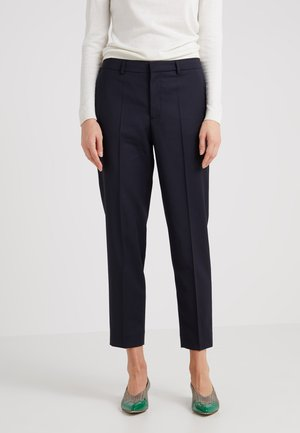 EMMA CROPPED COOL TROUSER - Trousers - dark navy