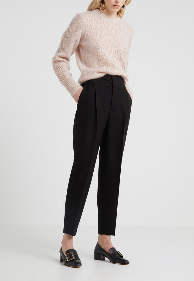 KYLIE TROUSERS - Tygbyxor - black